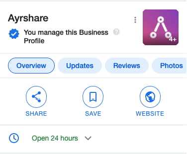 Ayrshare Google My Business Mobile Example