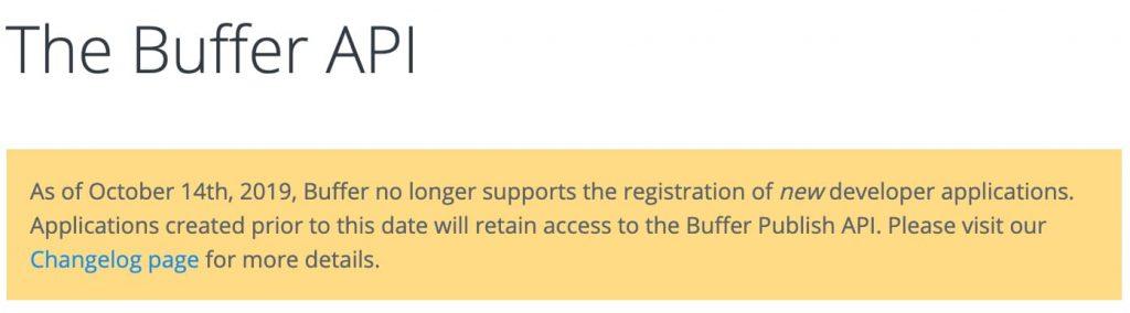 Buffer API