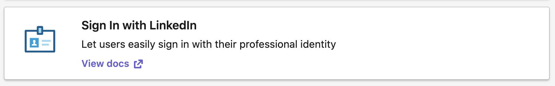 LinkedIn Signin
